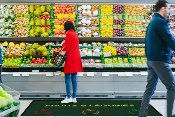 Tapis rayon fruits et legumes